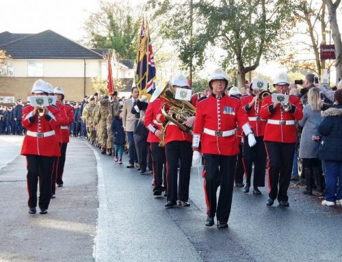 Marching on Remembrance Day 2018